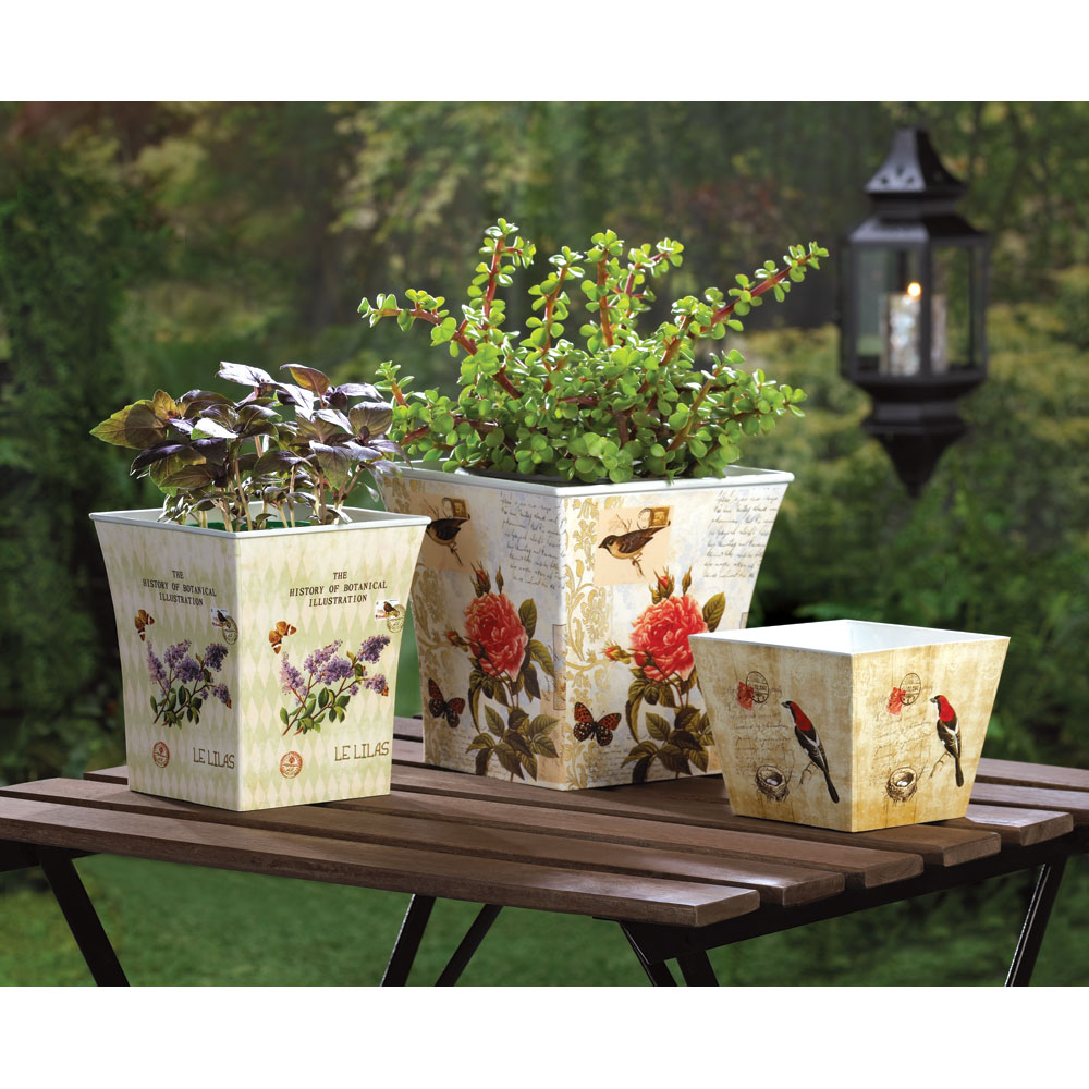 What 39 s new at khd garden planter trio koehler home for Koehler home decor