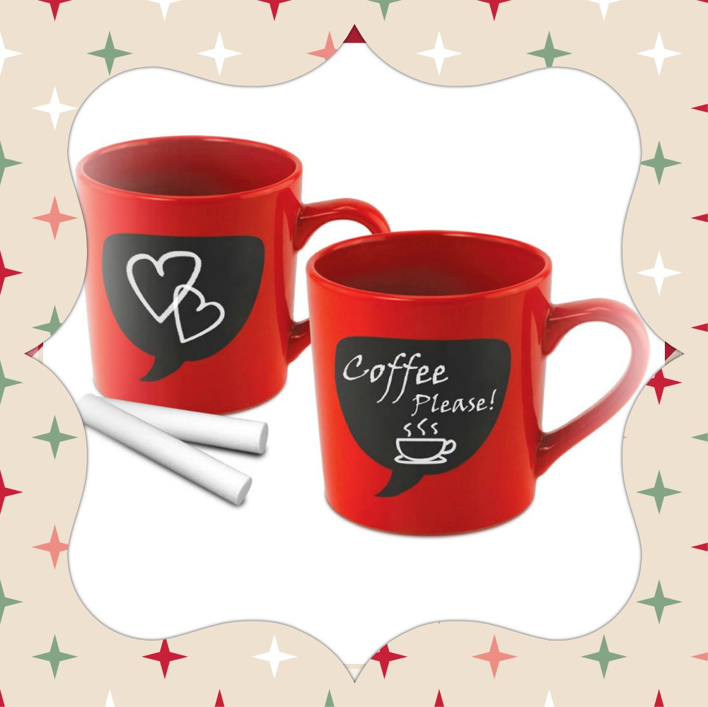 New at KHD –  Chalk Thought Chalkboard Mugs Set