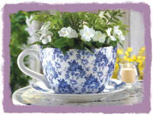 Wholesale Product Spotlight – Blue Floral Teacup Planter