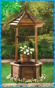 rustic garden wishing well