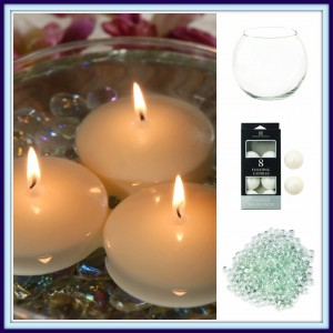 New at KHD – Floating Tealights, Flat Marbles and Glass Centerpiece Bowls
