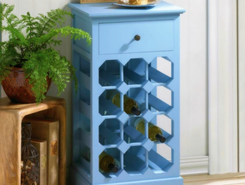 Wholesale Product Spotlight – Somerset Blue Wine Cabinet