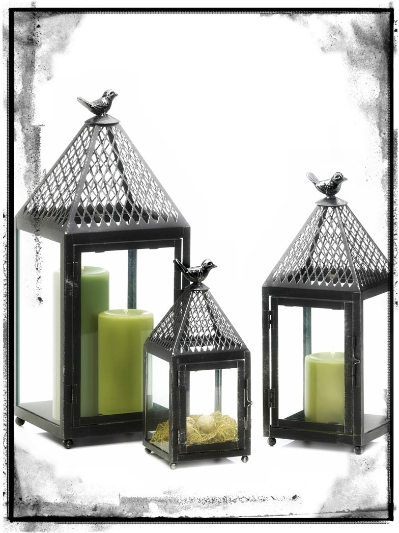 New at khd black bird iron lanterns koehler home decor for Koehler home decor