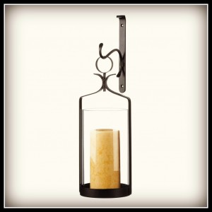 New at KHD – Hanging Hurricane Glass Wall Sconce