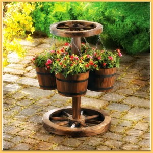 wagon wheel planter koehler home decor