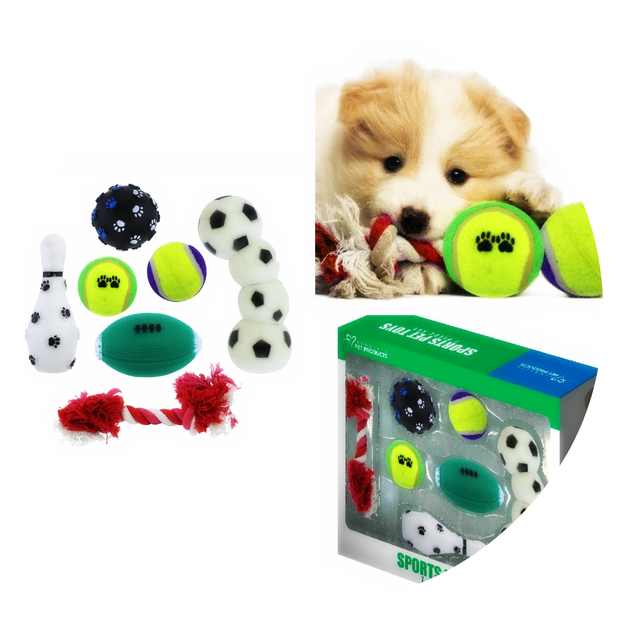New at KHD – Sports Pet Dog Toy Gift Set
