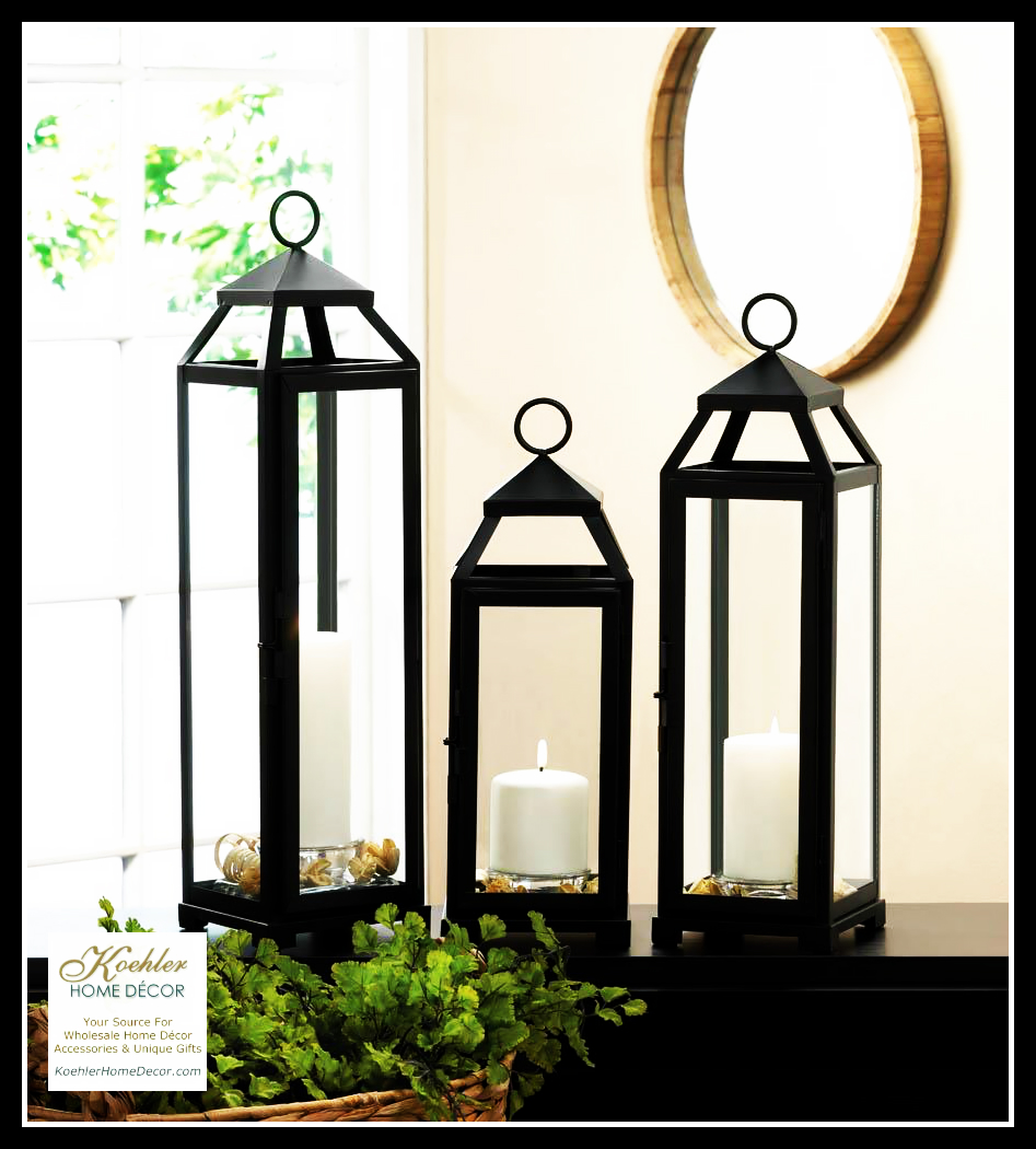 New at khd lean and sleek candle lanterns koehler home for Koehler home decor