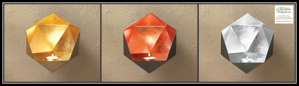 New at khd geometric wall sconce koehler home decor blog for Koehler home decor