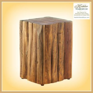 New at KHD – Log Block Side Table