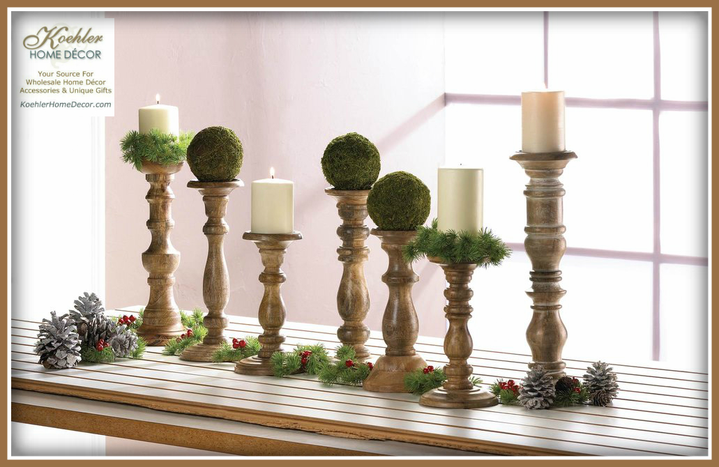 New at KHD – Wood Candle Holders Collection