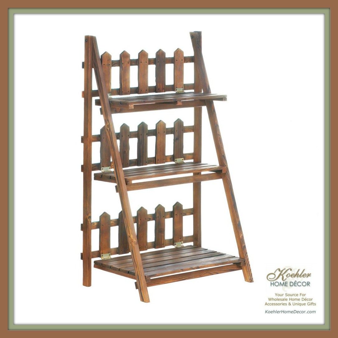 Wholesale product spotlight picket fence shelf plant for Koehler home decor