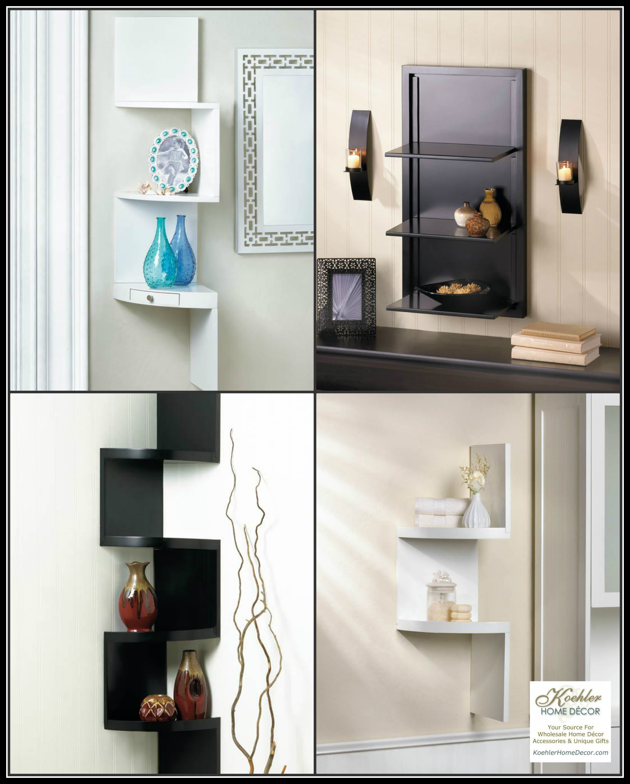 New at khd stylish shelving solutions koehler home for Koehler home decor