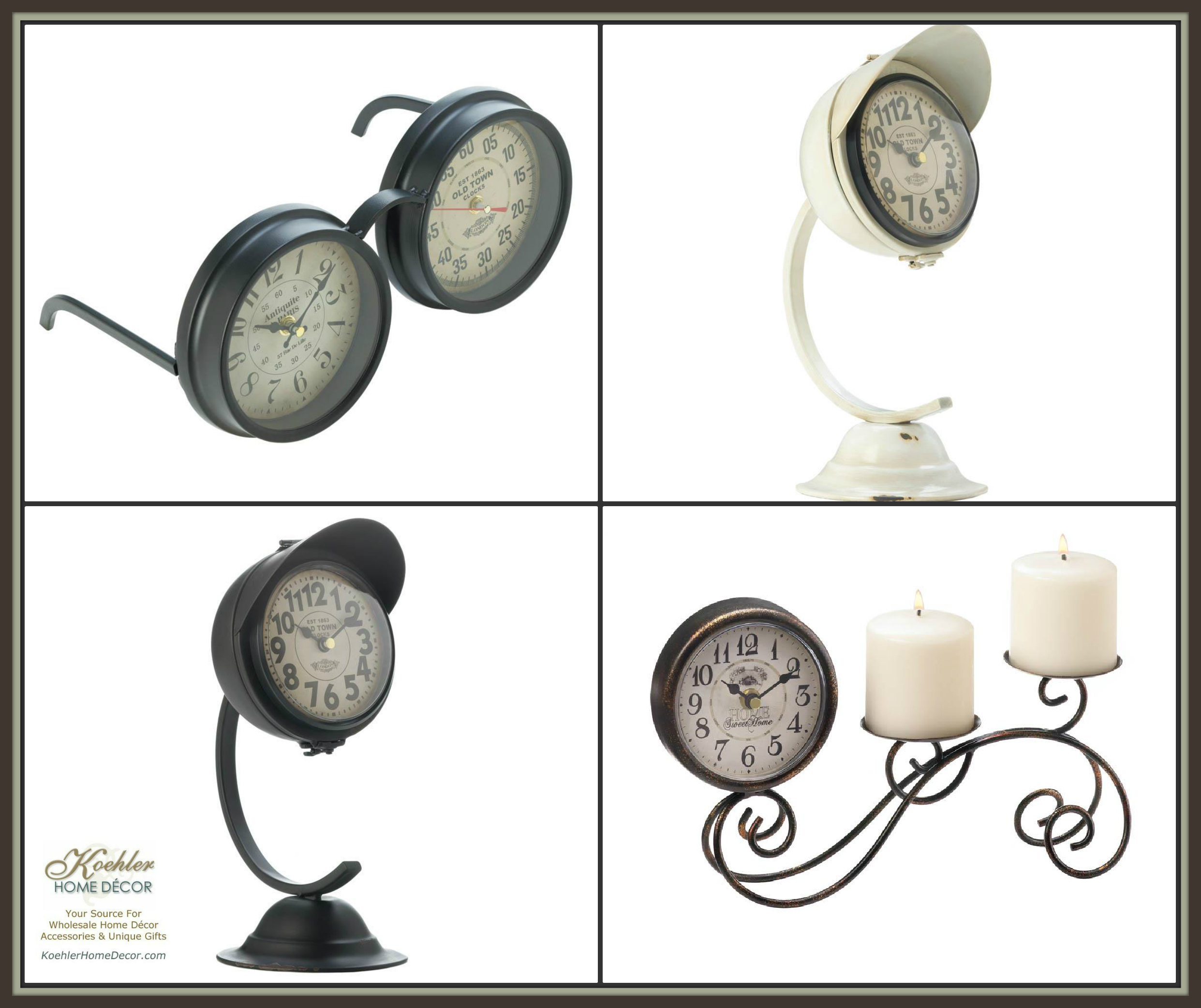 New at KHD – Vintage Clock Decor Collection