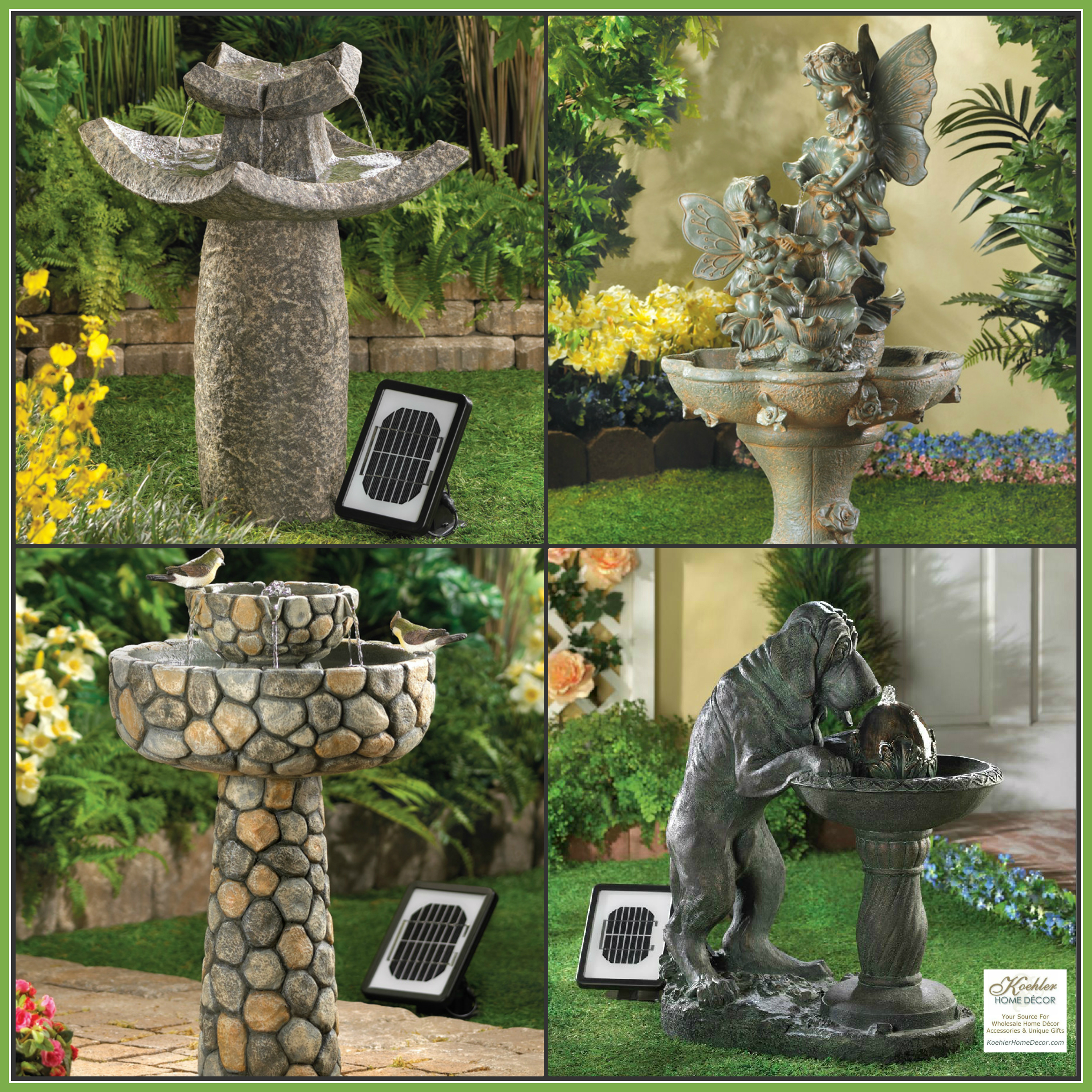 Wholesale Product Spotlight – Solar Fountain Collection