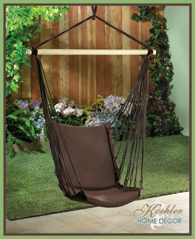 Wholesale product spotlight outdoor espresso swing chair for Koehler home decor