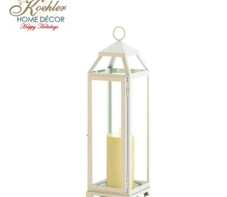 New at KHD – Country White Open Top Lantern