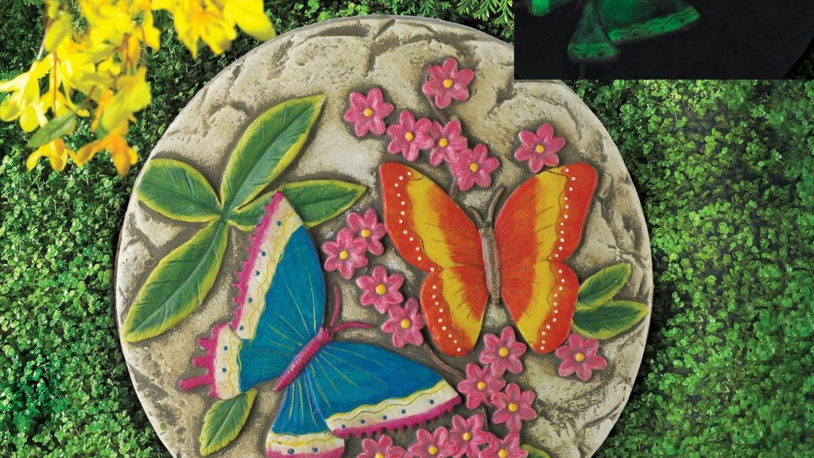 New at KHD – Glow In the Dark Butterfly Garden Stone
