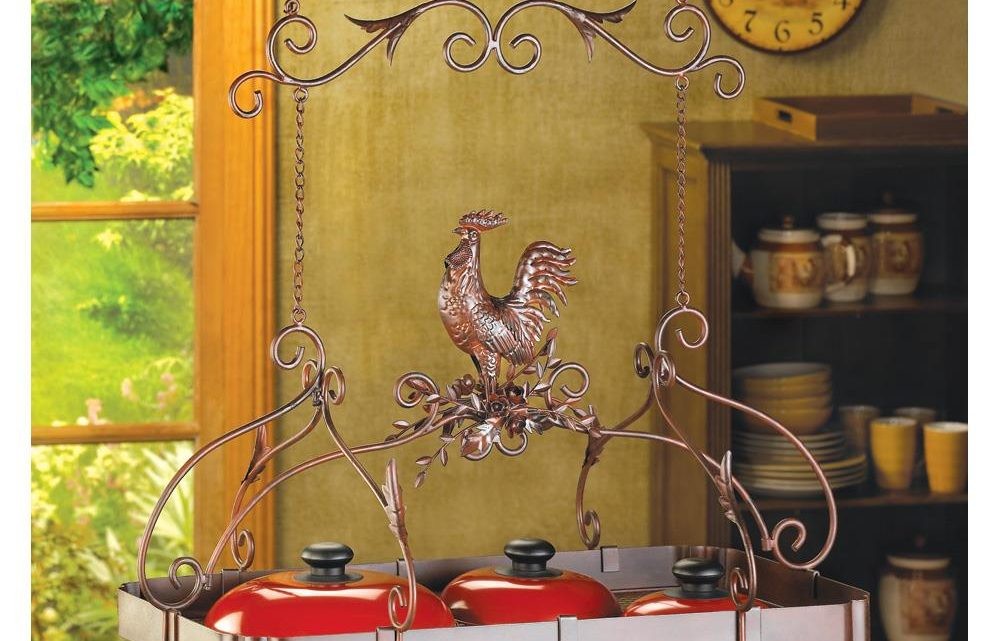 Wholesale Product Spotlight – Country Rooster Kitchen Pot Rack