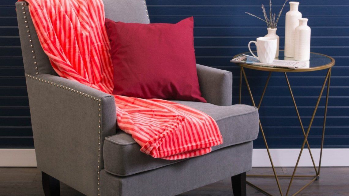 New at KHD – Red Stripe Throw