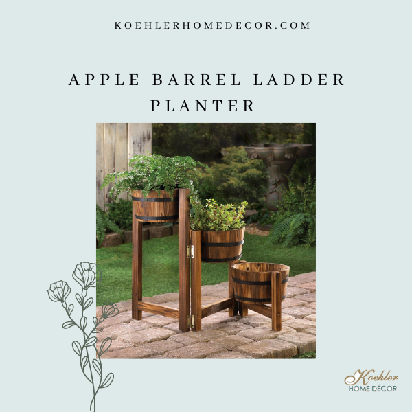 Wholesale Product Spotlight – Apple Barrel Ladder Planter