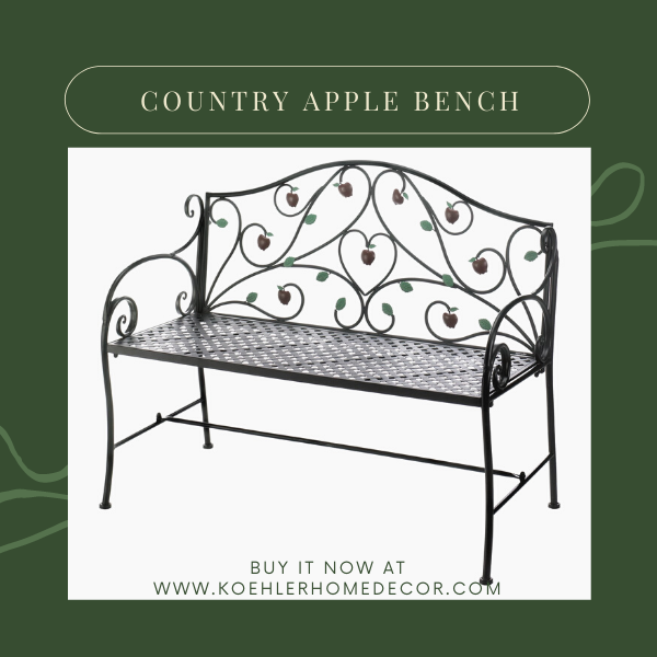 Wholesale Product Spotlight – Country Apple Bench