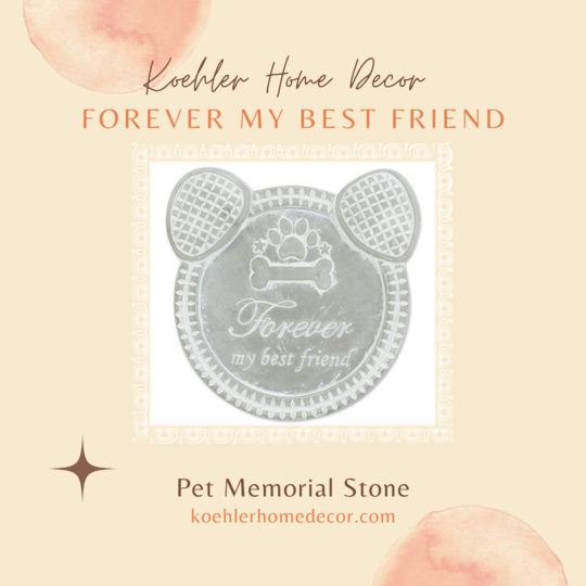 New at KHD – Forever My Best Friend Dog Memorial Stone
